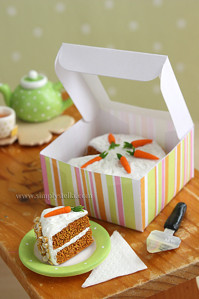Carrot Cake In Fimo Clay